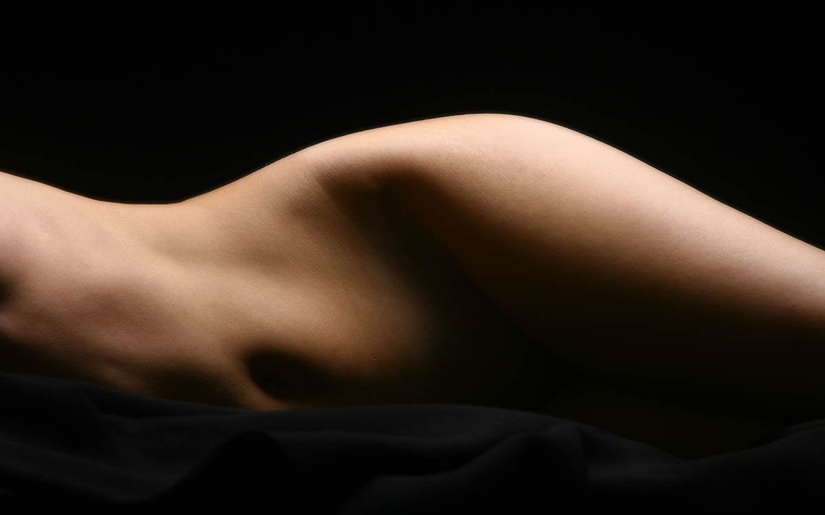 bonita silueta de abdomen
